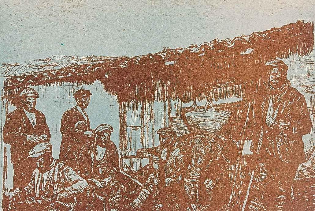 344 Colazione di lavoratori a Mandrebianche